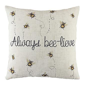 Evans Lichfield Bee-Lieve Cushion Cover