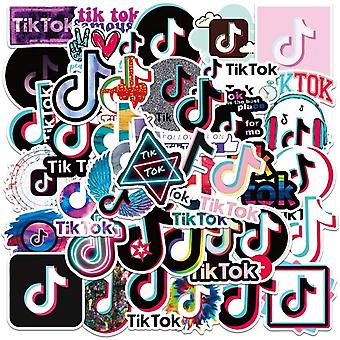 50pcs TikTok Gadget Stickers Stickers Reusable Vinyl