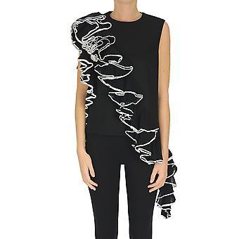 Dries Van Noten Ezgl093204 Women's Black Cotton Top