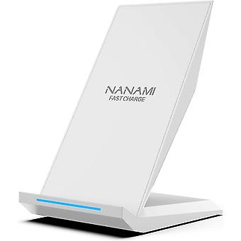 NANAMI Wireless Charger, 10W Qi Fast Wireless Charging Stand for Galaxy S20/S10/S10+/S9/S9+/S8/S8+