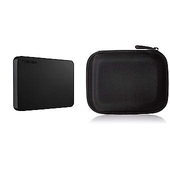 Toshiba hdtb410ek3aa 1tb canvio základy 2,5-palcový USB 3.0 přenosný externí pevný disk - černá a amazo