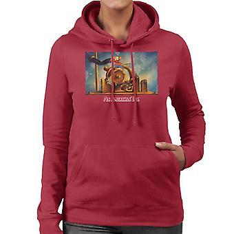Ein amerikanischer Schwanz Fievel Mousekewitz laufende Frauen's Kapuzen Sweatshirt