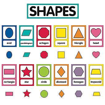 Nur Lehren Shape Karten Mini Bulletin Board Set