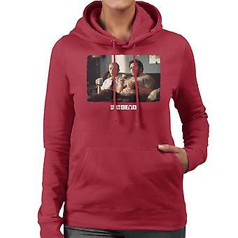 Shaun of the Dead Shaun And Ed Watching TV Women's Hooded Sweatshirt