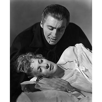 Horror Draculi Melissa Stribling Christopher Lee 1958 Photo Print