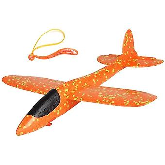 Epp Foam, Hand Throw Airplane With Rubber Band Ejection