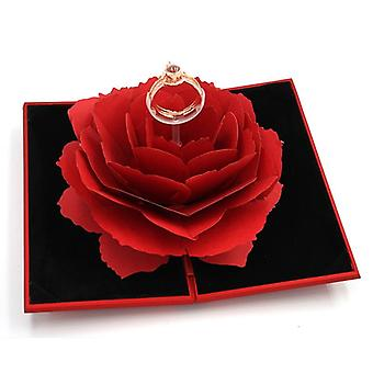 Crown Ring For Lovers, Women, Wedding Rings, With Creative Flower Box