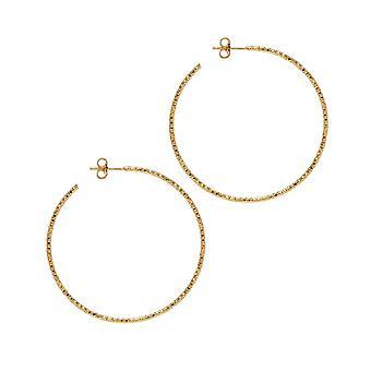 The Hoop Station La SARDEGNA Gold Plated 45 Mm Hoop Earrings H267Y