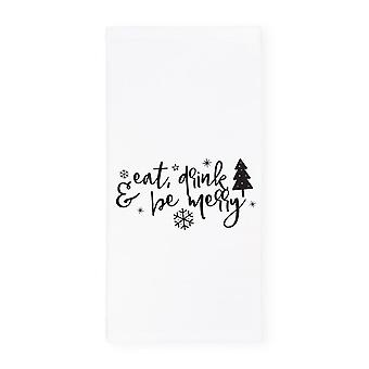 Eat Drink And Be Merry-kitchen Tea Towel