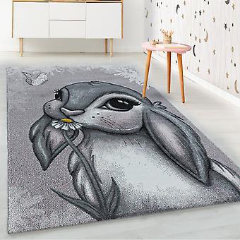 ShortFlor niños alfombra rosa conejo diseño guardería alfombra suave