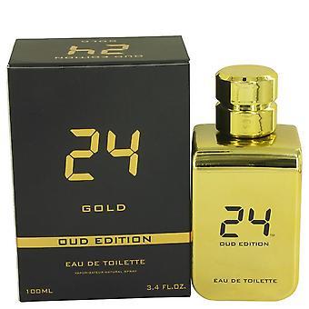 24 Gold oud edition eau de toilette concentree spray (unisex) by scent story 515799 100 ml