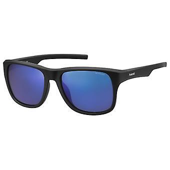 Polaroid PLD3019/S DL5/JY Matte Black/Poalrised Grey-Blue Mirror Sunglasses
