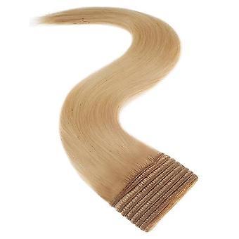 Сатин Strands Weft Полная голова человека расширение волос - Малибу