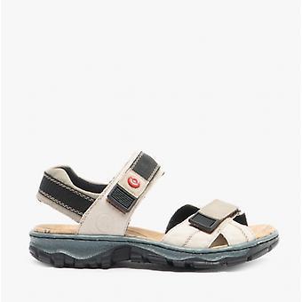 Rieker 68851-60 Hyvät nahka touch sulje urheilu sandaalit beige