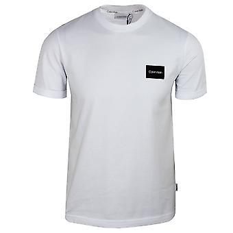 Calvin klein men's bright white turn up sleeve t-shirt