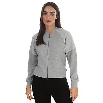 Women's Jacqueline de Yong Napa Raglan Bomber Jacket in Grey