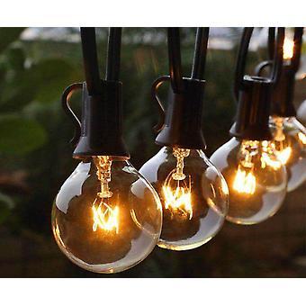 Patio String Light, Christmas Globe Festoon Bulb, Fairy Outdoor Party, Garden