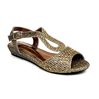 Low Wedge Glamour Bronze