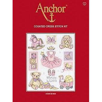 Anchor Counted Cross Stitched Kit ACS38 Girl Birth New 24x20cm