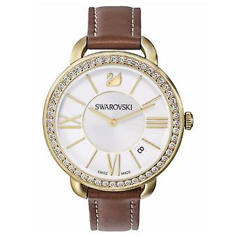 Swarovski Aila Day Brown Yellow Gold-Tone Ladies Watch 5095940