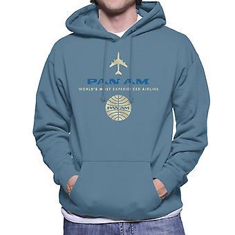 Pan Am Worlds mest erfarne flyselskab Mænd 's Hætteklædte Sweatshirt