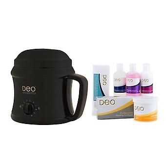DEO Heater Kit with 10 Settings for Warm Crème & Hot Wax Lotions - Black - 500cc