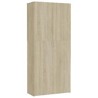 vidaXL armoire de stockage Sonoma-Chêne 80 x 35,5 x 180 cm Panneau de particules