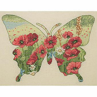 Anchor Counted Cross Stitch Kit: Maia Collection: Butterfly Silhouette