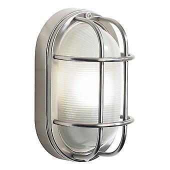 DAR SALCOMBE Skott Liten Oval Stål Vegglampe IP44