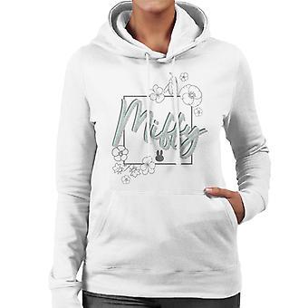 Miffy Logo Floral Border Women's Hooded Sweatshirt