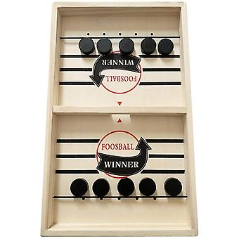 Gerui Fast Sling Puck Game, Wooden Board Game, Portable Adults Kids Interactive Family Game Tabletop