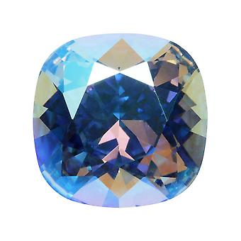Swarovski Crystal, #4470 tyyny Fancy Stone 12mm, 1 osa, Vaalea Safiiri hohtaa