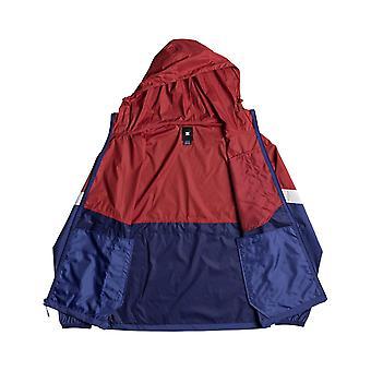 DC Dagup drievoudige blok jas in Tango rood