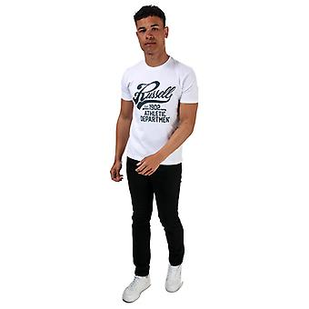 Men's Russell Athletic Script Crew T-Shirt in White