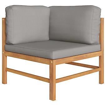 vidaXL 2 sièges de jardin avec coussin gris foncé