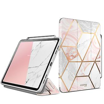 COSMO Bookcase Hoes iPad Pro 12.9 inch (2021) - Pencil houder - Marble Wit