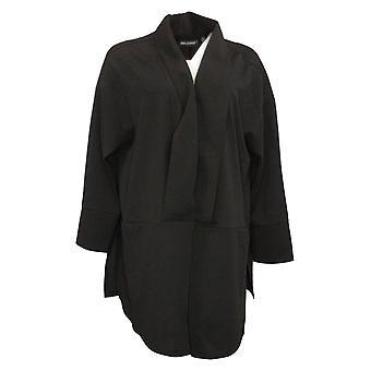 Nina Leonard Women's Blazer Reg High Tech Crepe Oversized Black 707777