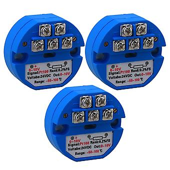 For 3x PT100 Temperature Sensor Transmitter Output 0-10V for Electric Power WS5944