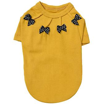 With bowknot spring and autumn pet clothes cat clothing
