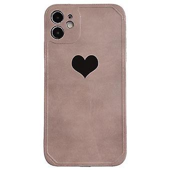 Simple love iphone12promax all-inclusive anti-drop mobile phone case