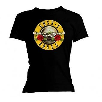 Guns N Roses Classic Bullet Logo Skinny Blk TS: Pequeño