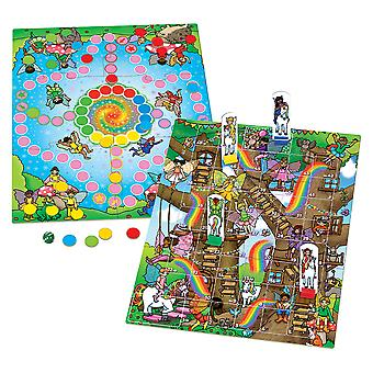 Orchard Toys Fairy Snakes and Ladders with Ludo Educational Family Board Game