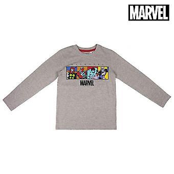 Långärmad T-shirt för barn The Avengers Grey