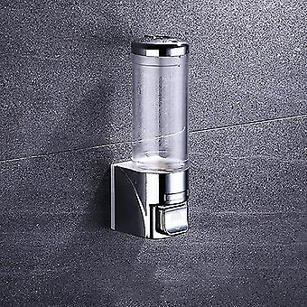 1 kamer witte zeep dispensers geen boor transparante shampoo douche dispenser muur mount plating