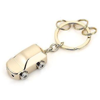 LED Light Mini Car Key Chain Ring Charm Luxury Couple Men Gift