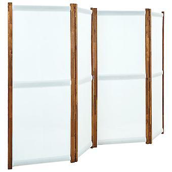 vidaXL 4 pcs. Room divider cream white 280x170 cm