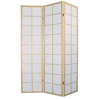 Fine Asianliving Japonais Chambre Diviseur 3 Panneaux W135xH180cm Écran de confidentialité Shoji Riz-papier Naturel