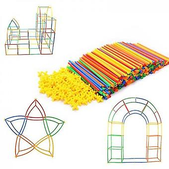 Rainbow Toyfrog Straw Constructor Stem Building Toys(400PCS)