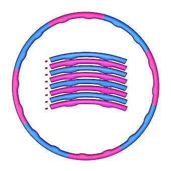 Aikuisten ammattilaisten vastapaino hularenkaat irrotettava kuntoilurengas (vaaleanpunainen ja sininen)