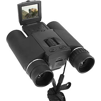 """Digital Binoculars, 1.5 """"LCD Screen Telescope Camera 10X25 Zoomable Binoculars Video Photo Recorder for Watching Birds Football Match Concert with Recording Function,(black)"""